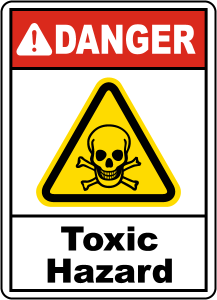 Danger Toxic Hazard Sign - Toxic Sign PNG