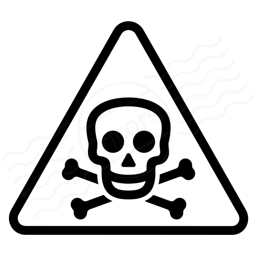 Sign Warning Toxic Icon - Toxic Sign PNG