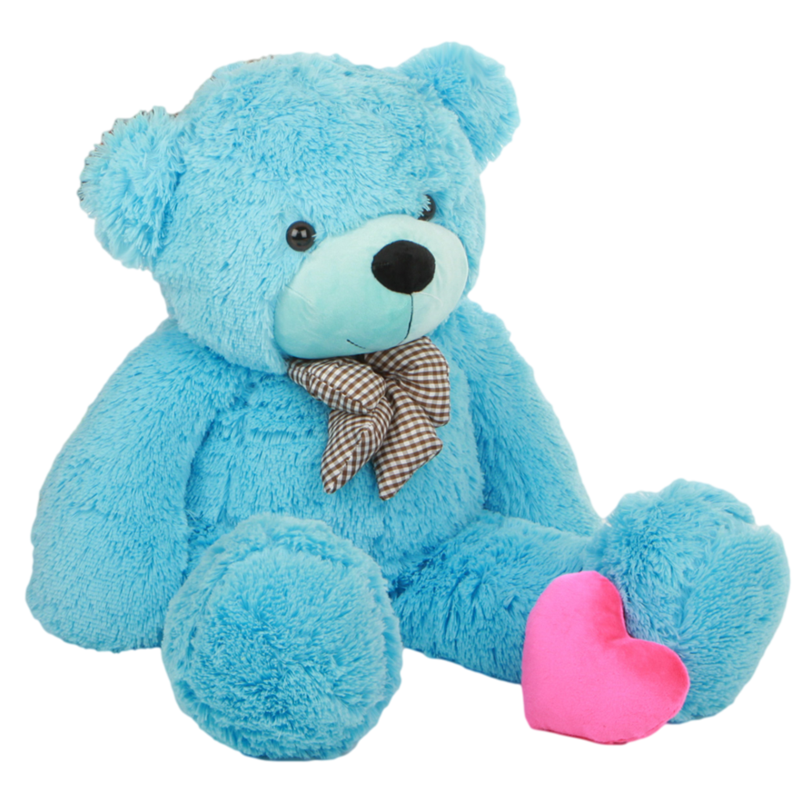 Blue Teddy Bear PNG 2 by SooyoungLover PlusPng.com  - Toy Bear PNG