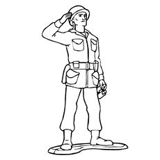 the-Toy-Soldier-coloring-page - Toy Soldier PNG Black And White