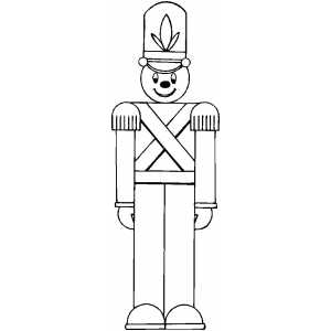Toy Soldier Coloring Page - Toy Soldier PNG Black And White