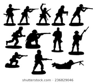 Toy soldiers - Toy Soldier PNG Black And White