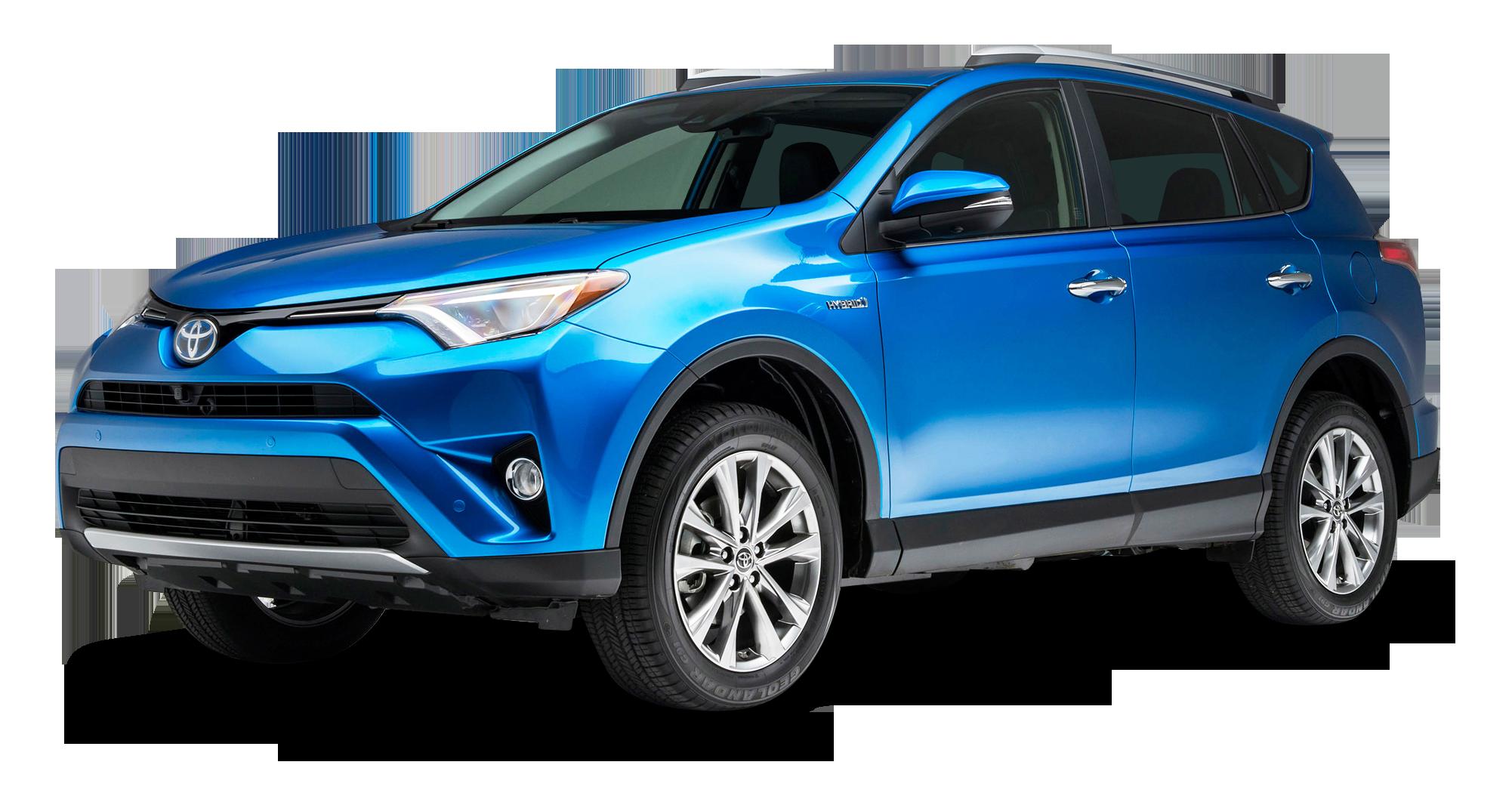 Blue Toyota RAV4 Hybrid Car PNG Image - Toyota PNG