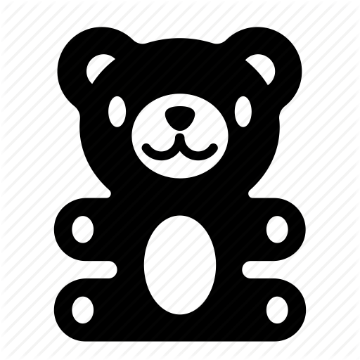 baby, bear, teddy, toy, toys, valentine icon - Toys PNG Black And White