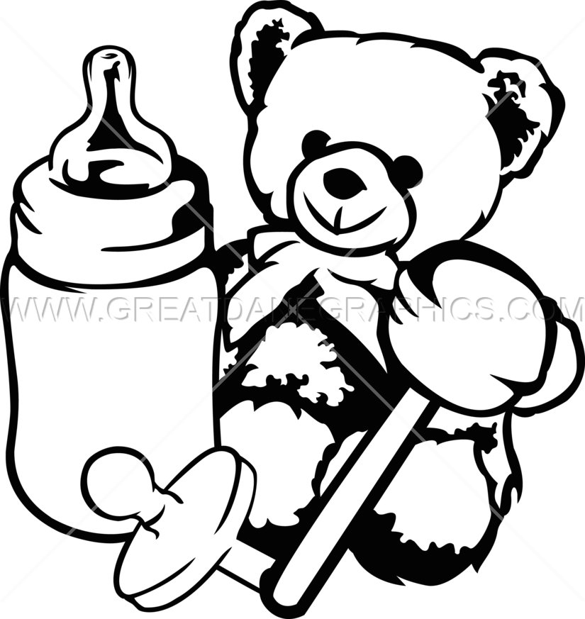Baby Toys - Toys PNG Black And White