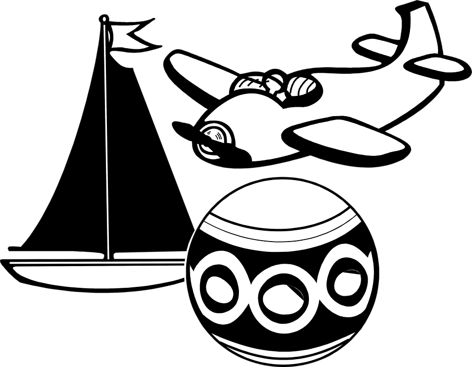 Toys PNG Black And White