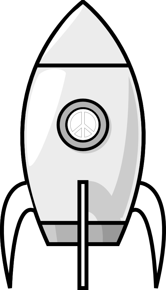 Purzen A Moon Rocket Black White Line Art Christmas Xmas Electronics Toy  Peace Symbol Sign Coloring - Toys PNG Black And White