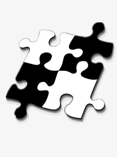 puzzle, Black And White, Toy PNG Image and Clipart - Toys PNG Black And White