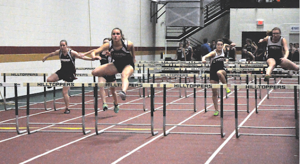 EAGLE SOPHOMORE LYDIA Pitts sails over a hurdle on her way to first place  in the 55-meter hurdles race at the Division II indoor track and field PlusPng.com  - Track And Field PNG Hurdles