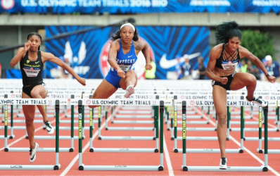 Four runners with UK connections advanced to the Olympic Trial semifinals  on Thursday (UK Athletics - Track And Field PNG Hurdles