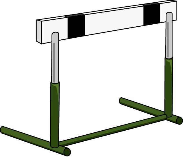 Hurdle Clipart - Track And Field PNG Hurdles