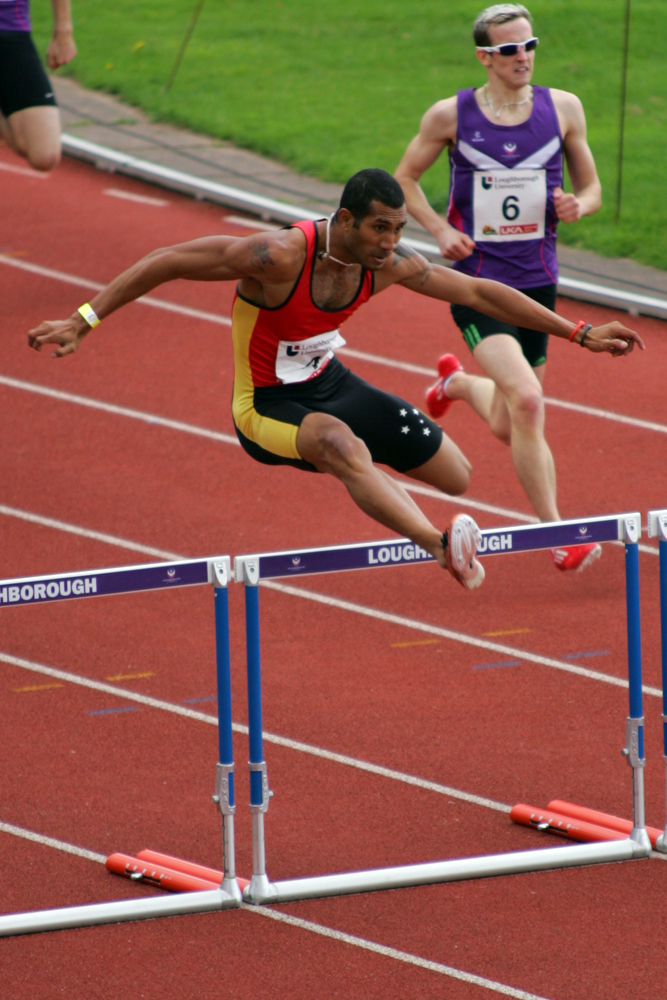 Mowen Boino ran a sensational 400m hurdles race at the Loughborough EAP  Meet - July 7, 2012 - Papua New Guinea Athletics Union - SportsTG - Track And Field PNG Hurdles