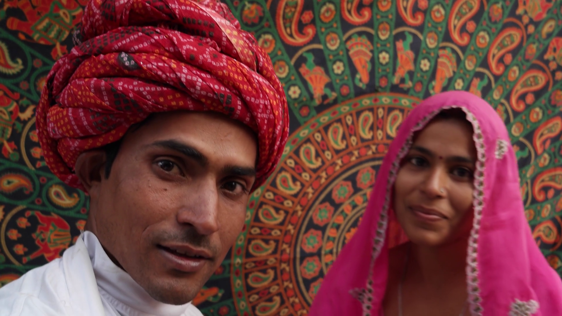 Handheld POV of a camera taking selfie photos of a beautiful Indian couple  in traditional clothing in Rajasthan, India Stock Video Footage -  VideoBlocks - Traditional Dress Of Rajasthan PNG