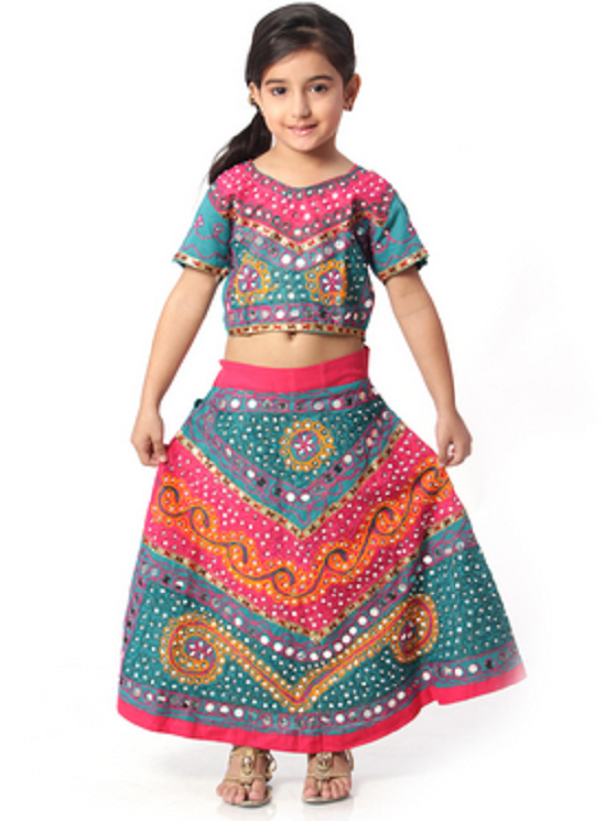 Rajasthani/Gujarati Lehenga. girl dress janmashtami - Traditional Dress Of Rajasthan PNG