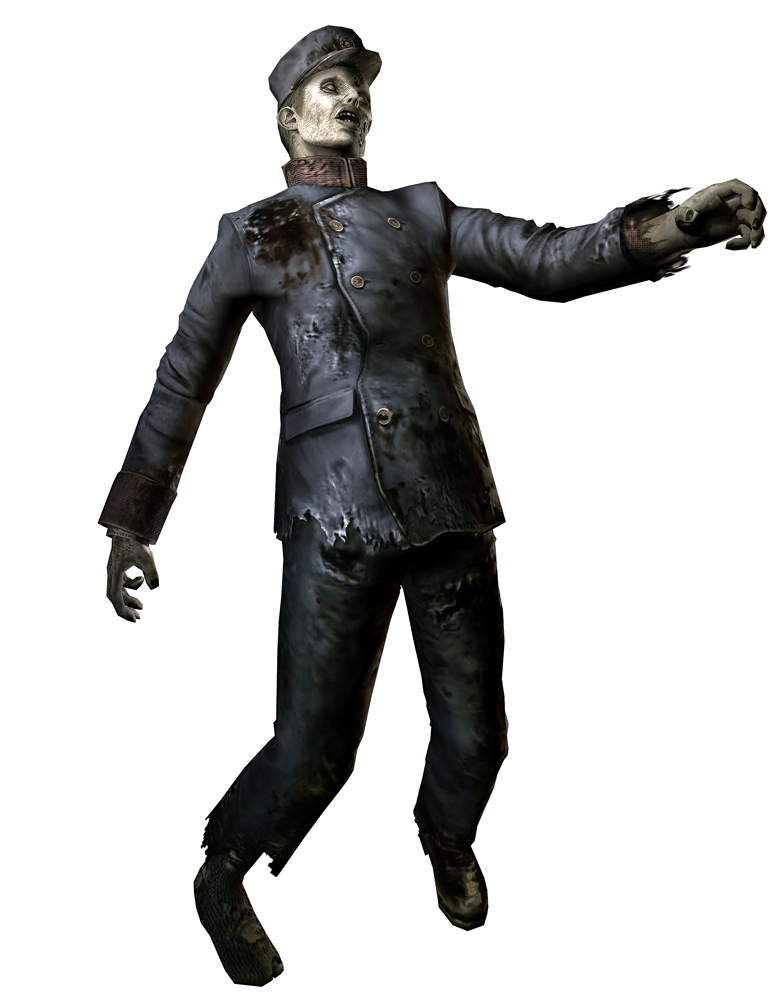 Train Conductor Zombie.png - Zombie PNG
