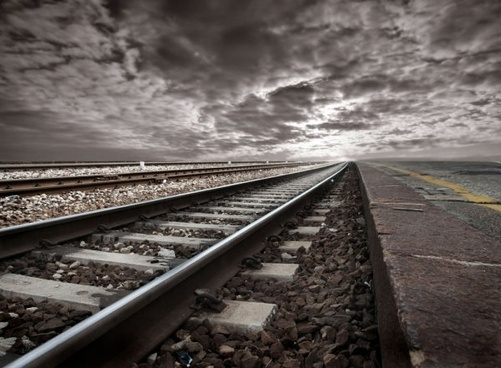 railway 03 hd picture - Train Track PNG HD