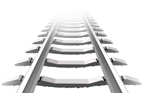 Railway Tracks Vector - Train Track PNG HD