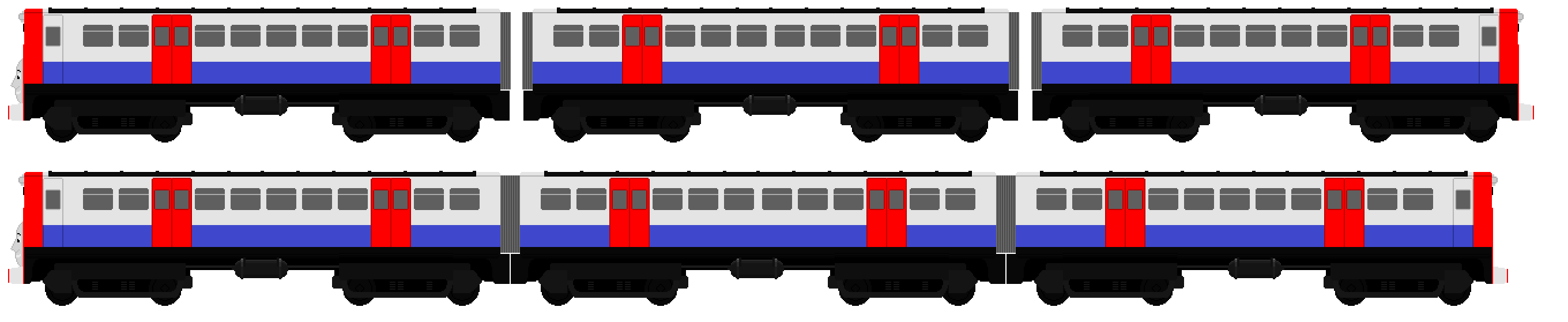 . PlusPng.com London Passenager train design 3 by JamesFan1991 - Trains PNG Side View