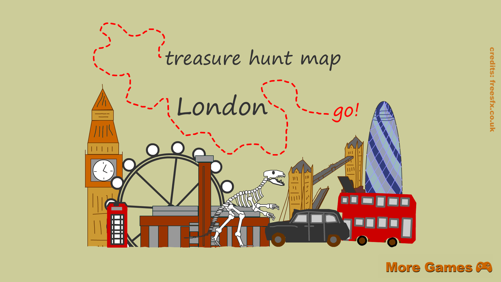 London Treasure Hunt Map- ekran görüntüsü - Treasure Hunt PNG HD