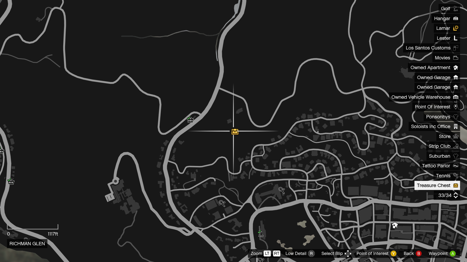 Treasure Hunt-GTAO-Chest Map.png - Treasure Hunt PNG HD