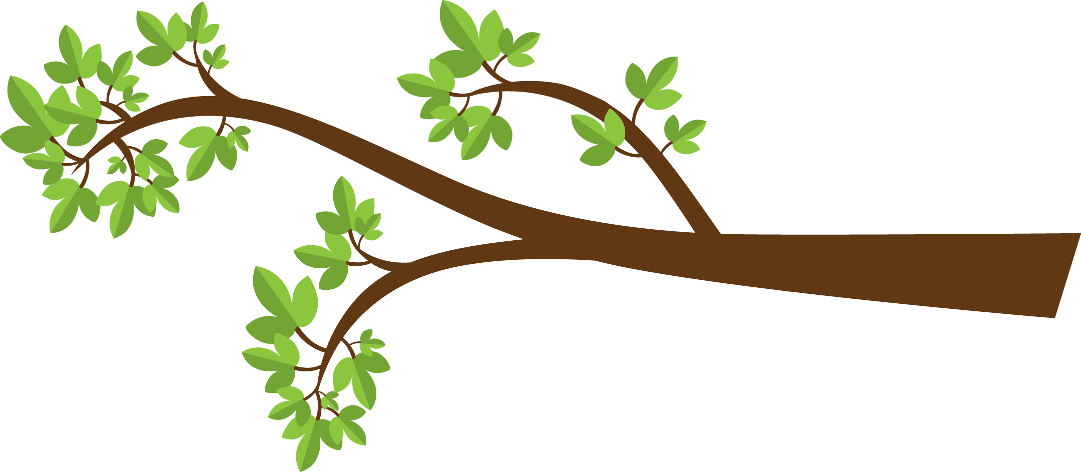 Branch Clipart: Tree Branch With Leaves - Tree Limb PNG