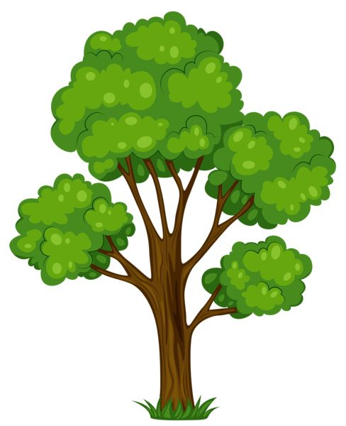 Painted Green Tree PNG Clipart Picture - Tree PNG Vector
