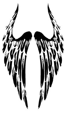 Tribal-Angel-Wings-Tattoo.png (360×600) - Wings Tattoos PNG