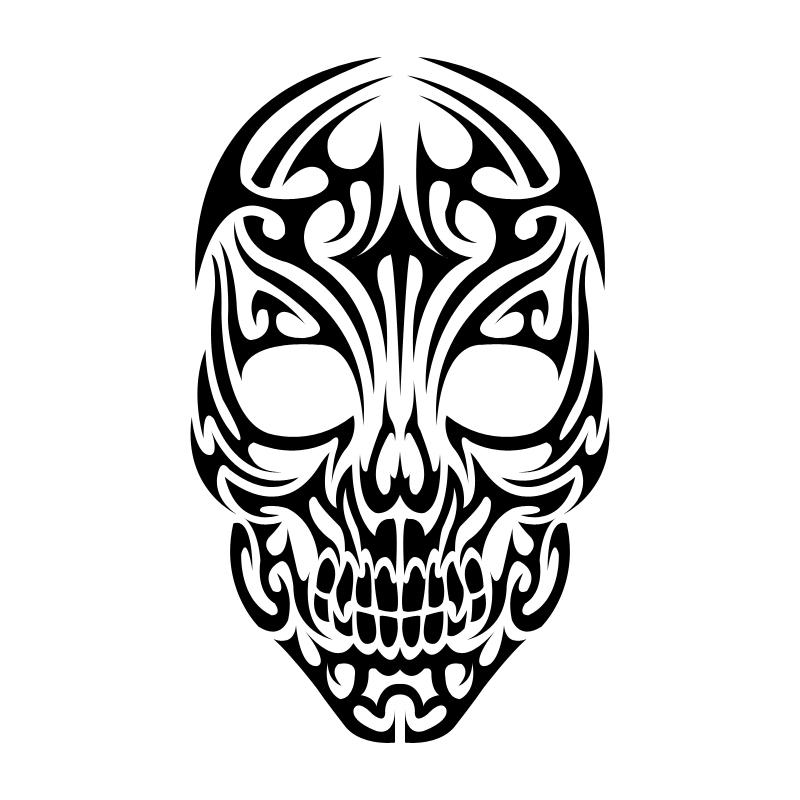 Tribal Skull Tattoo - Tribal Skull Tattoos PNG