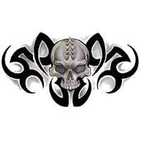 Tribal Skull Tattoos Free Png Image PNG Image - Tribal Skull Tattoos PNG