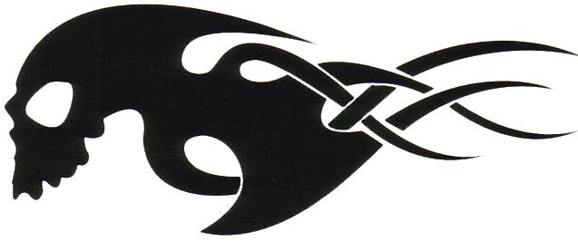 Tribal Skull Tattoos Png image #30751 - Tribal Skull Tattoos PNG