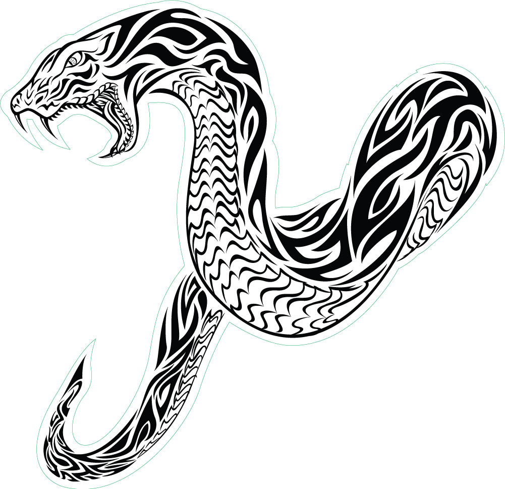Tribal-Snake-Tattoos.jpg 1,001×969 pixels - Snake Tattoo PNG