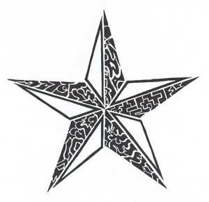 Tribal Star Tattoo Image - Star Tattoos PNG