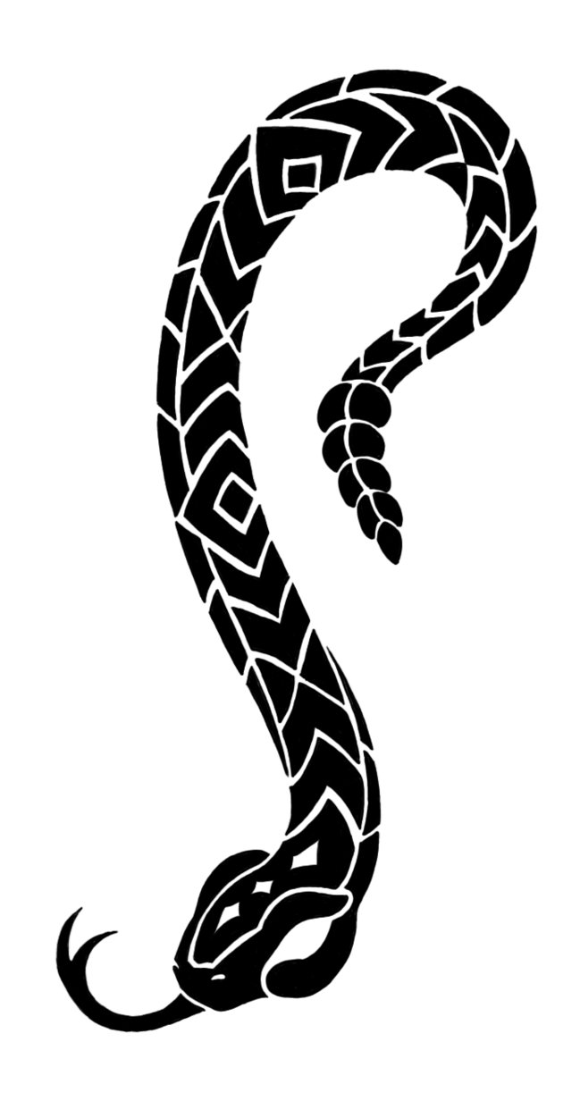 tribal tattoo serpent - Google Search - Snake Tattoo PNG