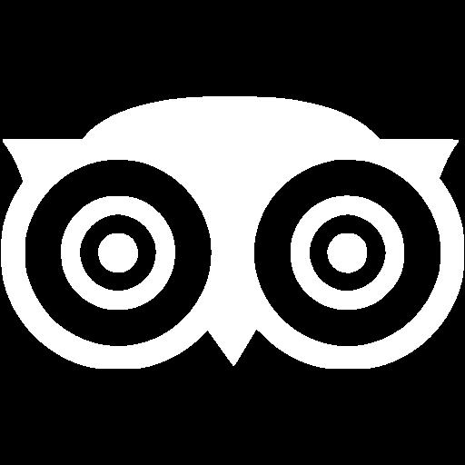 White Tripadvisor Icon - Free