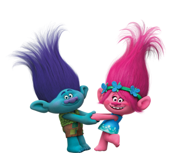 Dreamworks Trolls - Branch and Princess Poppy.png - Trolls PNG HD