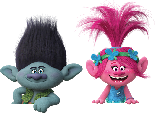 File:Branch u0026 Poppy (transparent).png - Trolls PNG HD