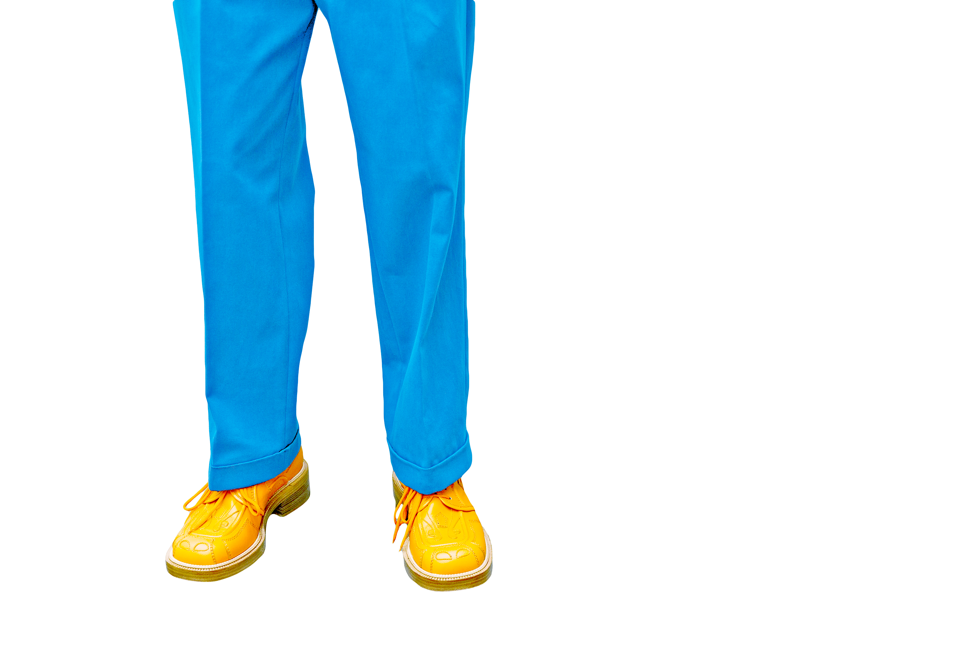 Blue Trousers and Yellow Shoes - Trousers PNG HD