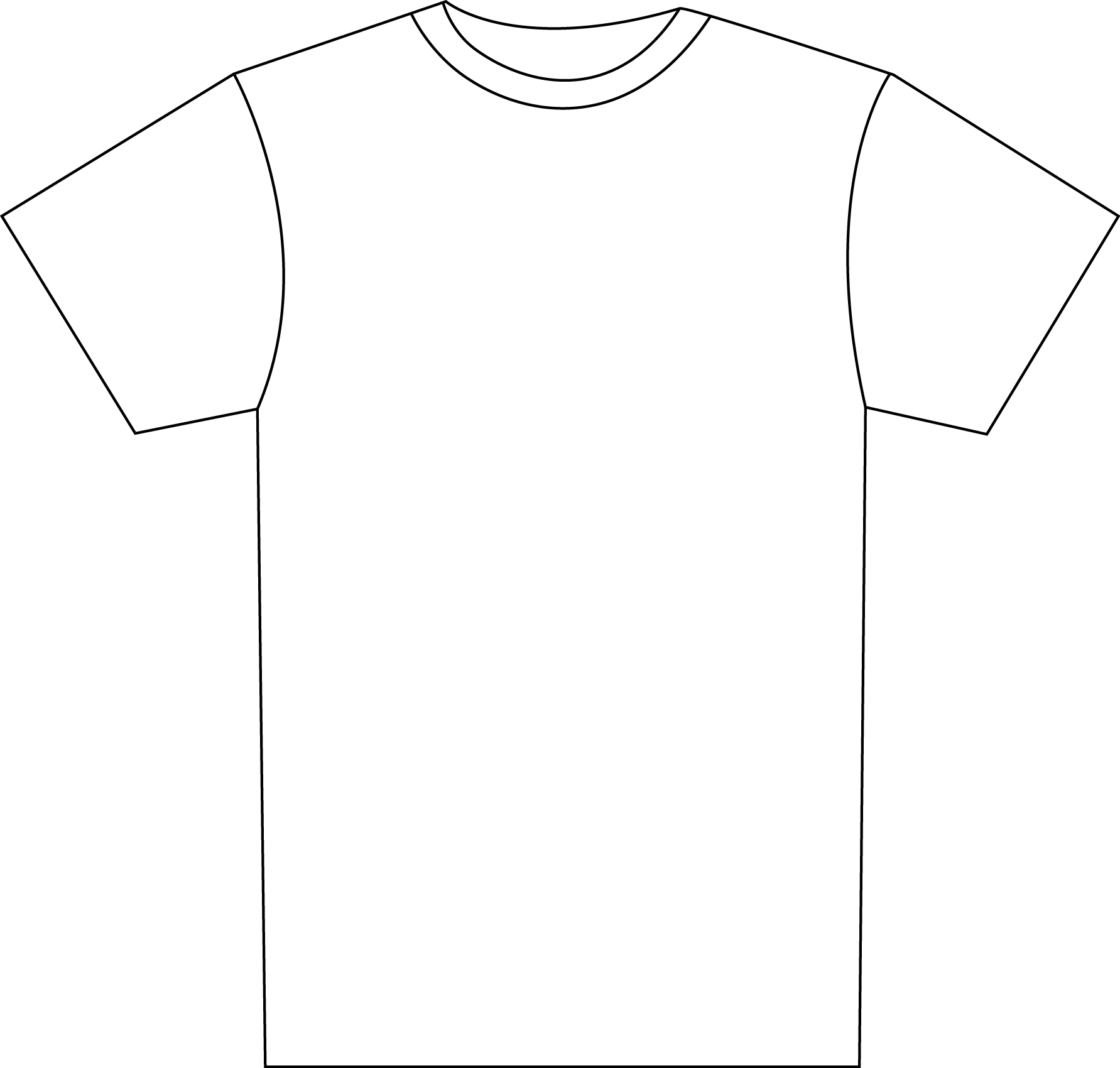 Tshirt PNG Outline - 81581