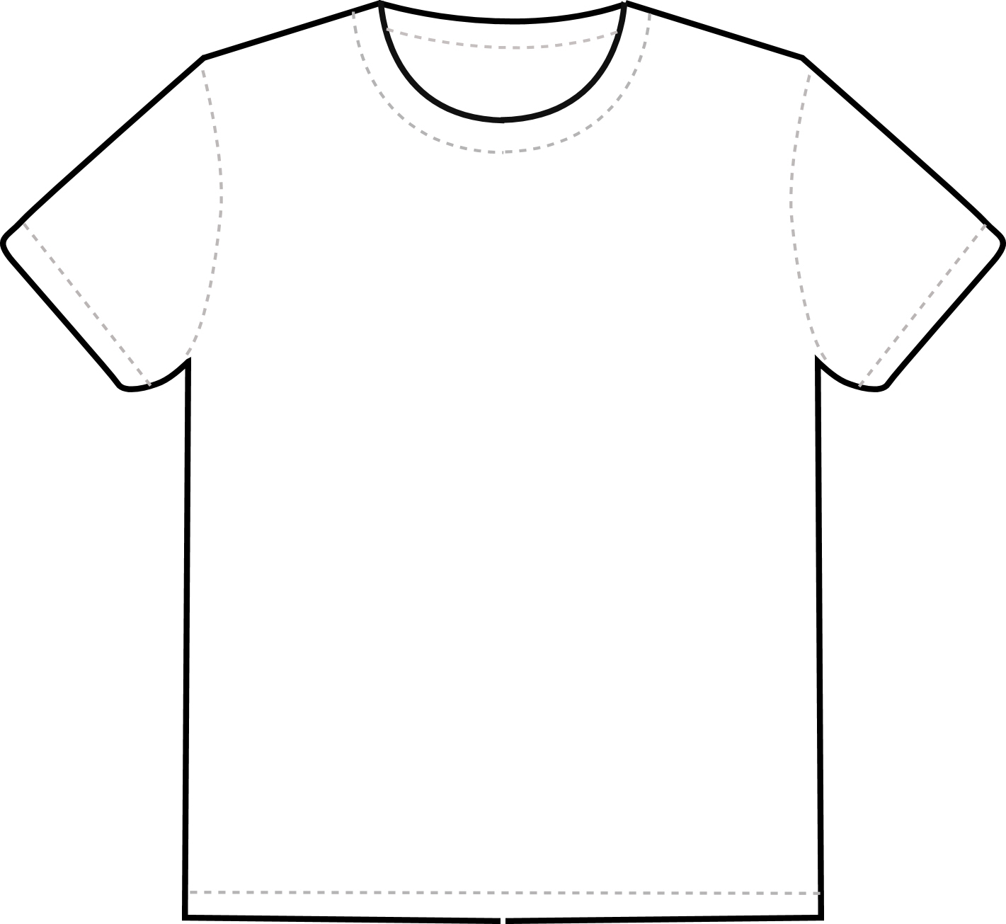 Tshirt PNG Outline