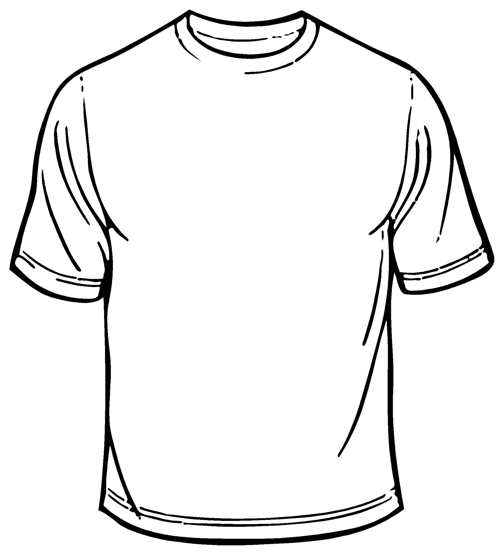 Blank T-shirt Outline #1663533 - Tshirt PNG Outline