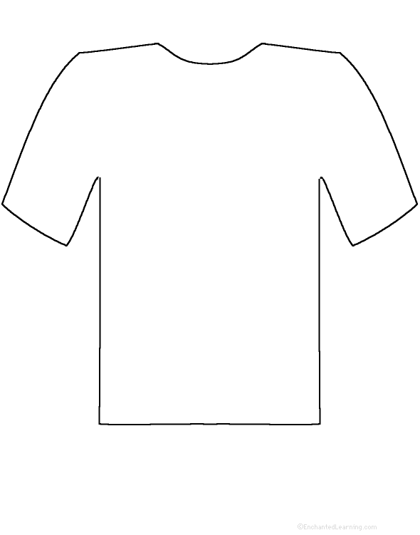 Tshirt PNG Outline - 81589