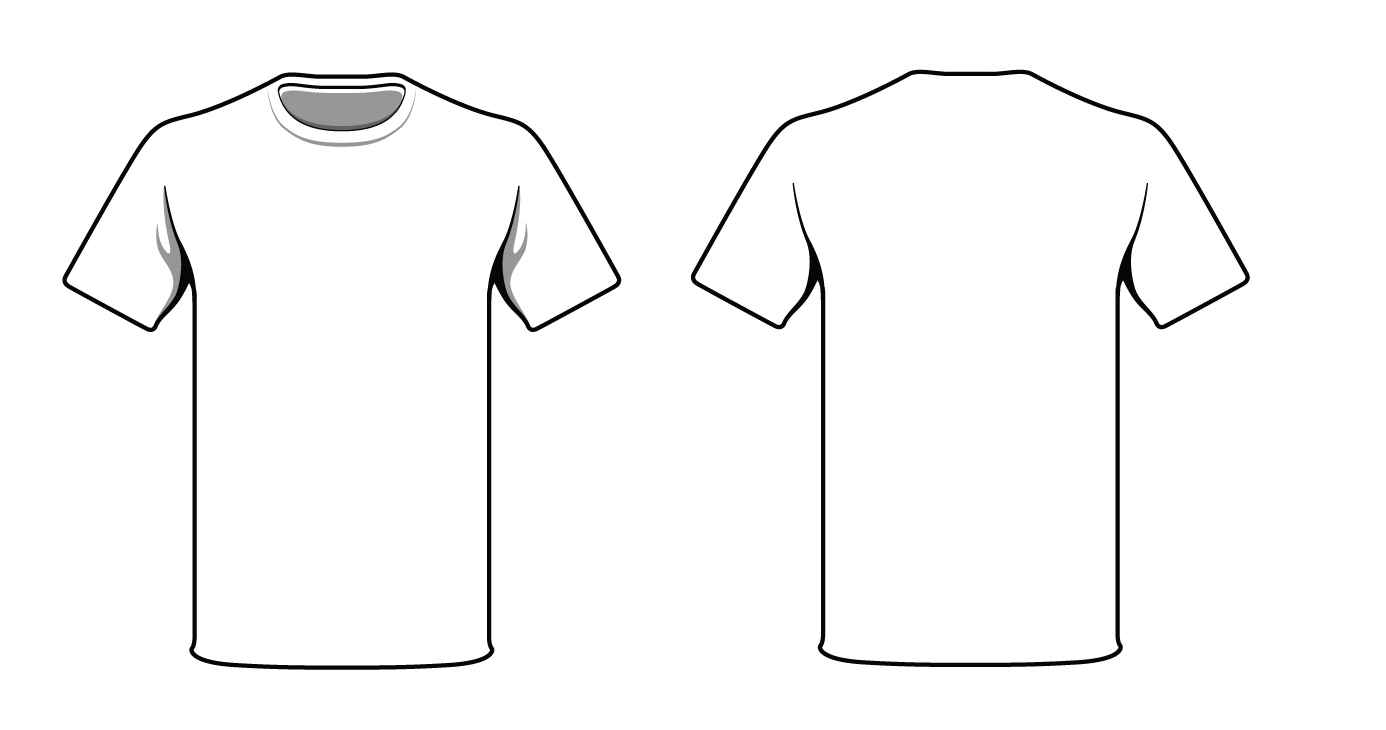 Outline Back Of Blank T Shirt - Clipart library - Tshirt PNG Outline