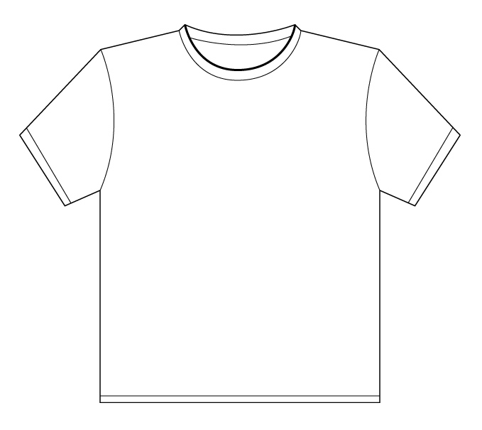T shirt shirt outline printable clipart 3 - Tshirt PNG Outline