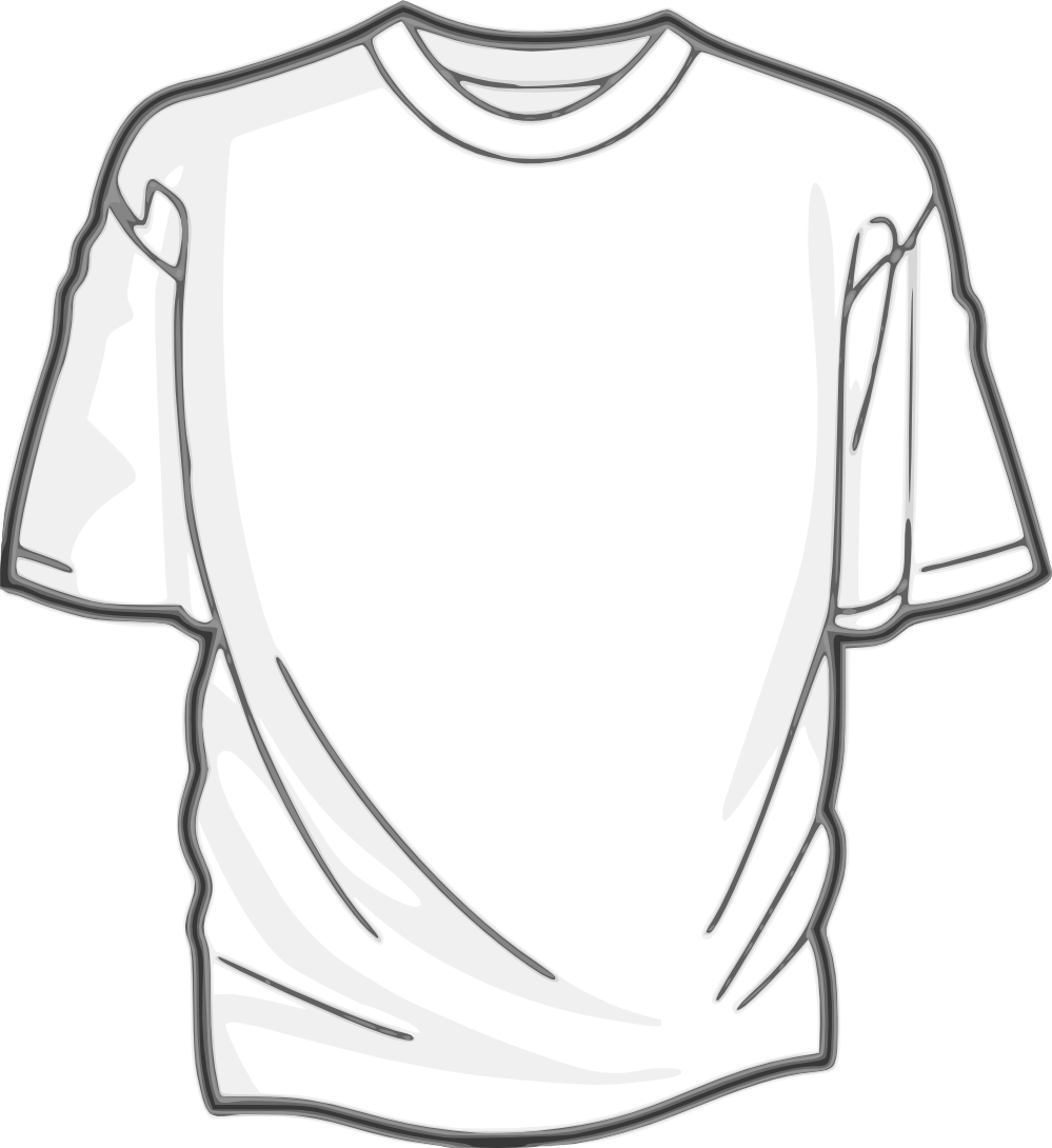 White T-shirt PNG image - Tshirt PNG Outline