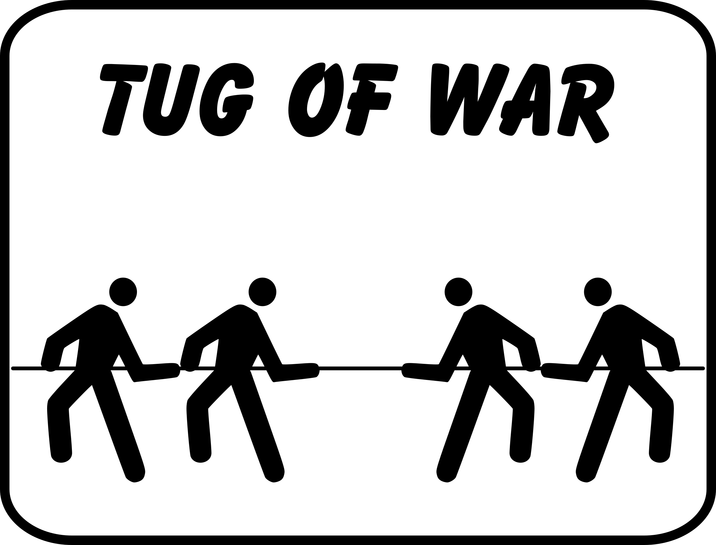 Tug Of War PNG Black And White - 82610