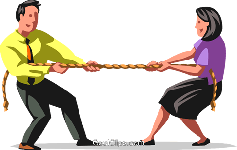 tug-of-war Royalty Free Vector Clip Art illustration