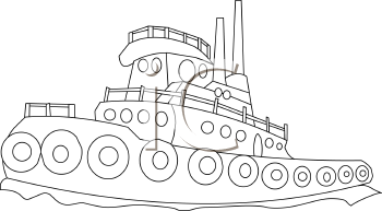 pin Tugboat clipart black and white #10 - Tugboat PNG Black And White
