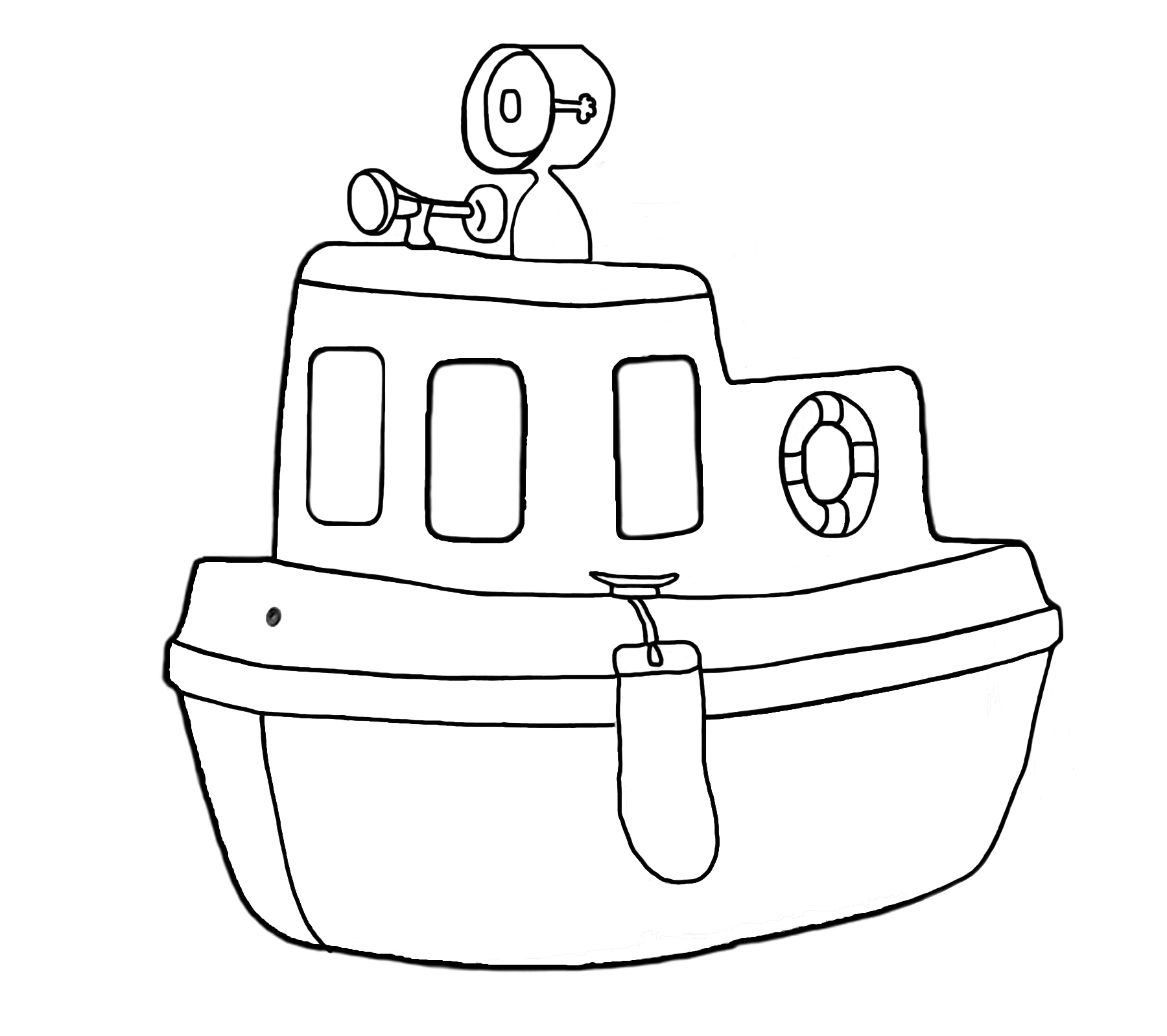 pin Tugboat clipart black and white #8 - Tugboat PNG Black And White