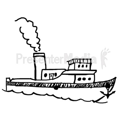 pin Tugboat clipart black and white #9 - Tugboat PNG Black And White