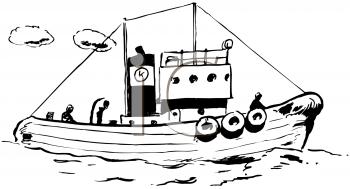 Tugboat - Tugboat PNG Black And White